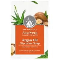 Aloe Excellence - Aloe Vera Glycerine Soap with Argan Oil Seife 100g hergestellt auf Gran Canaria