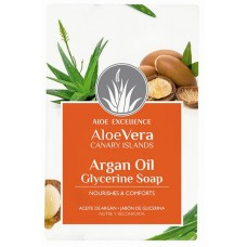 Aloe Excellence - Aloe Vera Glycerine Soap with Argan Oil Seife 100g hergestellt auf Gran Canaria - LAGERWARE