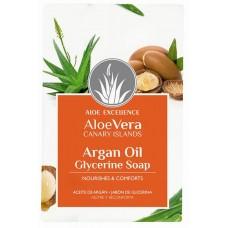 Aloe Excellence - Aloe Vera Glycerine Soap with Argan Oil Seife 100g hergestellt auf Gran Canaria - LAGERWARE