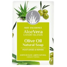 Aloe Excellence - Aloe Vera Glycerine Soap with Olive Oil Handseife 100g hergestellt auf Gran Canaria - LAGERWARE