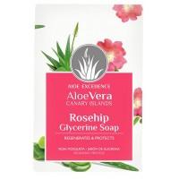 Aloe Excellence - Aloe Vera Glycerine Soap with Mosqueta Rose Oil Seife 100g hergestellt auf Gran Canaria