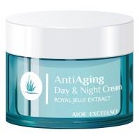 Aloe Excellence - Anti Aging Day & Night Cream Antifalten-Tages- & Nachtcreme 50ml Dose hergestellt auf Gran Canaria