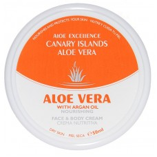 Aloe Excellence - Aloe Vera with Argan Oil Nourishing 50ml Dose hergestellt auf Gran Canaria - LAGERWARE