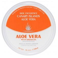 Aloe Excellence - Aloe Vera with Argan Oil Nourishing 50ml Dose hergestellt auf Gran Canaria - LAGERWARE