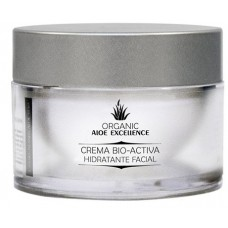 Aloe Excellence - Aloe Vera Crema Bio-Activa Hidratante Facial 100% Ecologico Bio 50ml Dose hergestellt auf Gran Canaria
