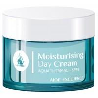 Aloe Excellence - Moisturising Day Cream Aqua Thermal Tages-Gesichtscreme 50ml Dose hergestellt auf Gran Canaria