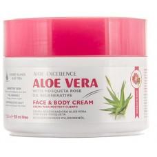 Aloe Excellence - Aloe Vera With Mosqueta Rose Oil Regenerative Creme 300ml Dose hergestellt auf Gran Canaria - LAGERWARE