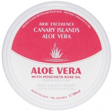 Aloe Excellence - Aloe Vera With Mosqueta Rose Oil Regenerative Creme 50ml Dose hergestellt auf Gran Canaria - LAGERWARE