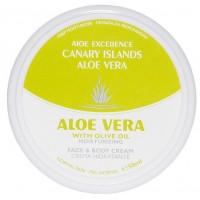Aloe Excellence - Aloe Vera With Olive Oil Moisturing Creme 50ml Dose hergestellt auf Gran Canaria
