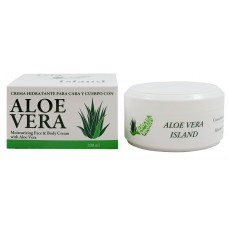 Aloe Vera Island - Crema Hidratante Cara y Cuerpo Eco Bio Aloe Vera Feuchtigkeitscreme 100ml Dose hergestellt auf Fuerteventura