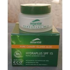 atlantia - Hydraplus SPF 15 Aloe Vera Gesichtscreme mit Sonnenschutzfaktor 15 50ml hergestellt auf Teneriffa - LAGERWARE