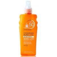 Canarian Suncare - Aloe Vera Sun Spray Lotion SPF 50 Sonnencreme Lichtschutzfaktor 50 200ml hergestellt auf Gran Canaria