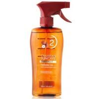Canarian Suncare - Coconut Tanning Oil SPF 2 Kokosnuss-Bräunungsspray Lichtschutzfaktor 2 200ml hergestellt auf Gran Canaria
