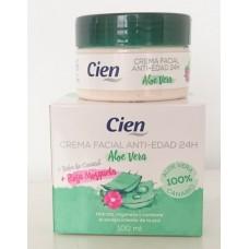 Cien - Crema Facial Anti-Edad Aloe Vera Rosa Mosqueta Baba de Caracol 100ml hergestellt auf Teneriffa - LAGERWARE