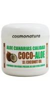 Aloe Canarias Calidad - Coco-Aloe Kokos-Aloe Vera Körpercreme 300ml Dose hergestellt auf Teneriffa