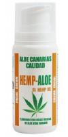 Aloe Canarias Calidad - Hemp-Aloe Hanf-Aloe Vera Körpercreme 100ml Spenderflasche hergestellt auf Teneriffa