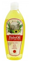 Cosmonatura - Aceite Baby BabyOil Aloe Vera, Uva, Maiz 250ml Quetschflasche hergestellt auf Teneriffa
