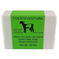 Jabon Fuerteventura - Jabon de Leche de Cabra y Aloe Vera Ziegenmilchseife 110g hergestellt auf Fuerteventura