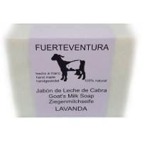 Jabon Fuerteventura - Jabon de Leche de Cabra y Lavanda Lavendel Ziegenmilchseife mit Lavendel 110g hergestellt auf Fuerteventura