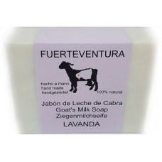 Jabon Fuerteventura - Jabon de Leche de Cabra y Lavanda Lavendel Ziegenmilchseife mit Lavendel 110g hergestellt auf Fuerteventura - LAGERWARE