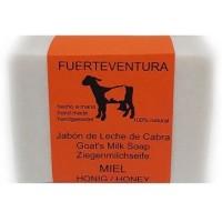 Jabon Fuerteventura - Jabon de Leche de Cabra y Miel Ziegenmilchseife mit Honig 110g hergestellt auf Fuerteventura