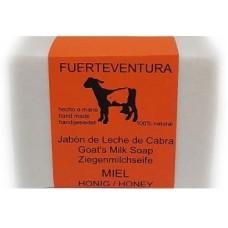 Jabon Fuerteventura - Jabon de Leche de Cabra y Miel Ziegenmilchseife mit Honig 110g hergestellt auf Fuerteventura - LAGERWARE
