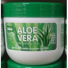 Hiperdino - Aloe Vera Face And Body Cream 100% Aloe Vera Canario Körpercreme 300ml hergestellt auf Gran Canaria - LAGERWARE