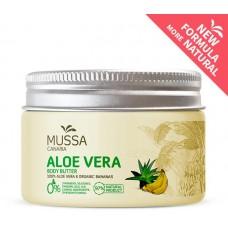 Mussa Canaria - Manteca Crema Corporal Body Butter Aloe Vera Platano Ecologico Bio Creme 300ml Dose hergestellt auf Teneriffa