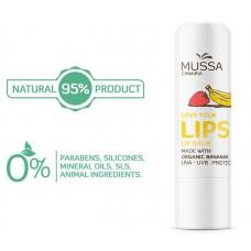 Mussa Canaria - Lip Balm Platano Fresa Ecologico Bio Lippenpflegestift Banane Erdbeere 4,3g hergestellt auf Teneriffa