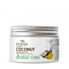 Mussa Canaria - Manteca Crema Mini Body Butter Coconut Ecologico Bio Creme Kokosnuss 70ml Dose hergestellt auf Teneriffa - LAGERWARE