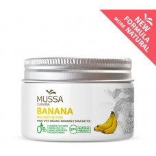 Mussa Canaria - Manteca Crema Mini Body Butter Banana Cacao Karité Ecologico Bio Creme 70ml Dose hergestellt auf Teneriffa - LAGERWARE