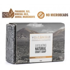 Mussa Canaria - Volcanique Jabon Exfoliating Natural Craft Soap Seife 100g hergestellt auf Teneriffa - LAGERWARE