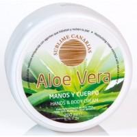 Sublime Canarias - Aloe Vera Manos y Cuerpo Hand- & Körpercreme 200ml Dose hergestellt auf Gran Canaria