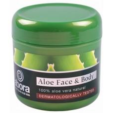 abora - Aloe Face and Body Moisture Cream dermatologically tested Aloe Vera-Creme 300ml Dose hergestellt auf Teneriffa - LAGERWARE