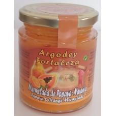 Argodey Fortaleza - Mermelada de Papaya-Naranja Papaja-Orangen-Marmelade 200g hergestellt auf Teneriffa - LAGERWARE
