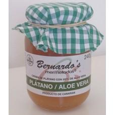 Bernardo's Mermeladas - Platano / Aloe Vera Bananenkonfitüre mit 20% Aloe Vera 240g hergestellt auf Lanzarote - LAGERWARE