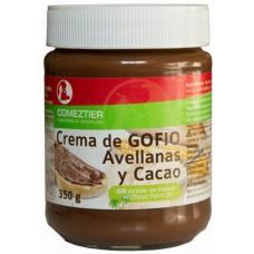 Comeztier - Crema de Gofio Avellanas y Cacao Eco Gofio-Haselnuss-Schoko-Aufstrich Bio 350g hergestellt auf Teneriffa - LAGERWARE