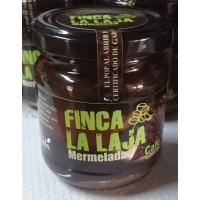 Finca La Laja - Mermelada de Cafe y Manzana Kaffee-Marmelade auf Apfelbasis 212g Glas hergestellt auf Gran Canaria