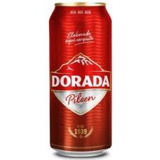 Dorada - Pilsen Cerveza Bier 4,7% Vol. 4x 500ml Dose hergestellt auf Teneriffa
