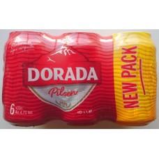 Dorada - Pilsen Cerveza Bier 4,7% Vol. 6x 330ml Dose hergestellt auf Teneriffa - LAGERWARE