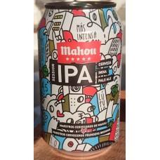 Mahou - Cinco Estrellas IPA Cerveza India Pale Ale Bier 4,5% Vol. 6x330ml Dose hergestellt auf Teneriffa - LAGERWARE