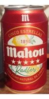 Mahou - Cinco Estrellas Radler Cerveza Bier mit Zitronenlimonade 3,2% Vol. 6x330ml Dose hergestellt auf Teneriffa