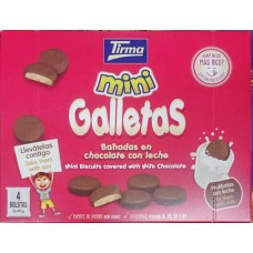 Tirma - Mini Galletas Banadas en chocolate con leche 4x40g hergestellt auf Gran Canaria