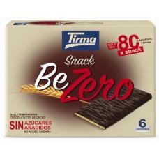 Tirma - Snack BeZero Galleta Banada En Chocolate Negro Sin Azucar Kekse mit Bitterschokolade zuckerfrei 6x17,5g 105g hergestellt auf Gran Canaria - LAGERWARE