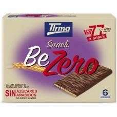 Tirma - Snack BeZero Galleta Banada En Chocolate Con Leche Sin Azucar Kekse mit Vollmilchschokolade zuckerfrei 6x17,5g 105g hergestellt auf Gran Canaria - LAGERWARE
