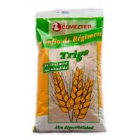 Comeztier - Gofio de Regimen de Trigo sin sal anidada Weizen-Gofio ohne Salz 500g Tüte hergestellt auf Teneriffa
