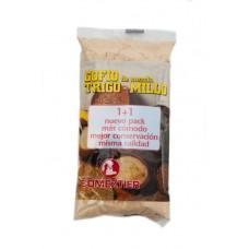Comeztier - Gofio de Mezcla Trigo y Millo Weizen- & Maismehl geröstet 250g Tüte hergestellt auf Teneriffa - LAGERWARE