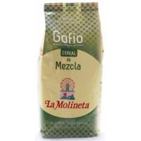 Gofio La Molineta - Cereal de Mezcla Gofio Trigo y Millo Tueste Natural geröstetes Weizen- und Maismehl 1kg hergestellt auf Teneriffa