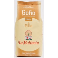 Gofio La Molineta - Gofio Cereal de Millo Tueste Normal Maismehl geröstet 1kg hergestellt auf Teneriffa