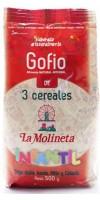 Gofio La Molineta - Gofio de 3 Cereales Doble Tueste Infantil geröstetes Dreikornmehl für Kinder 500g hergestellt auf Teneriffa - LAGERWARE